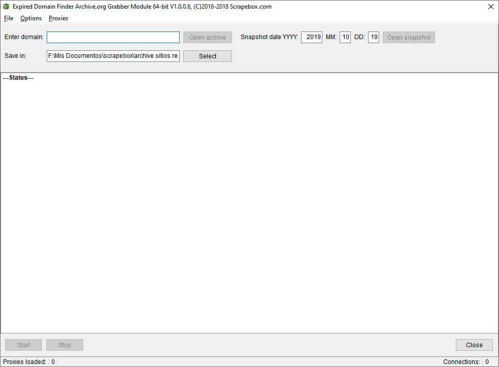 expired domain finder - archive grabber