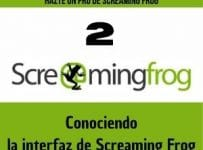 conociendo la interfaz de screaming frog