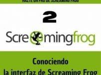 conociendo la interfaz de screaming frog