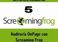 screaming frog auditoria onpage