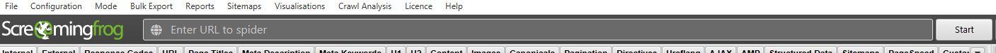 screaming frog - introducir URL