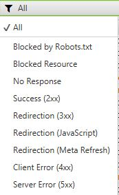 sf - response codes - opciones de filtro