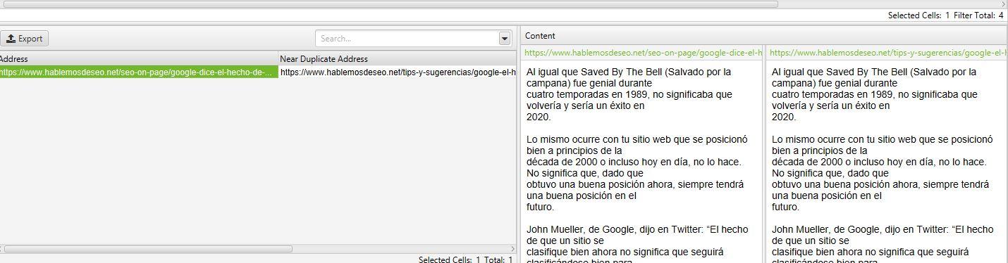 ejemplo near duplicates - duplicate details